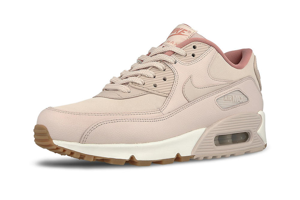 Nike Air Max 90 Leather Silt Red Red Stardust Pastel Pink