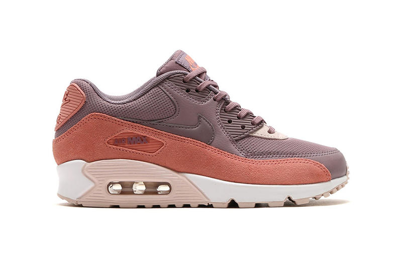 dfcb61c8c10c Nike Air Max 90 Red Stardust Taupe Grey Purple Pink