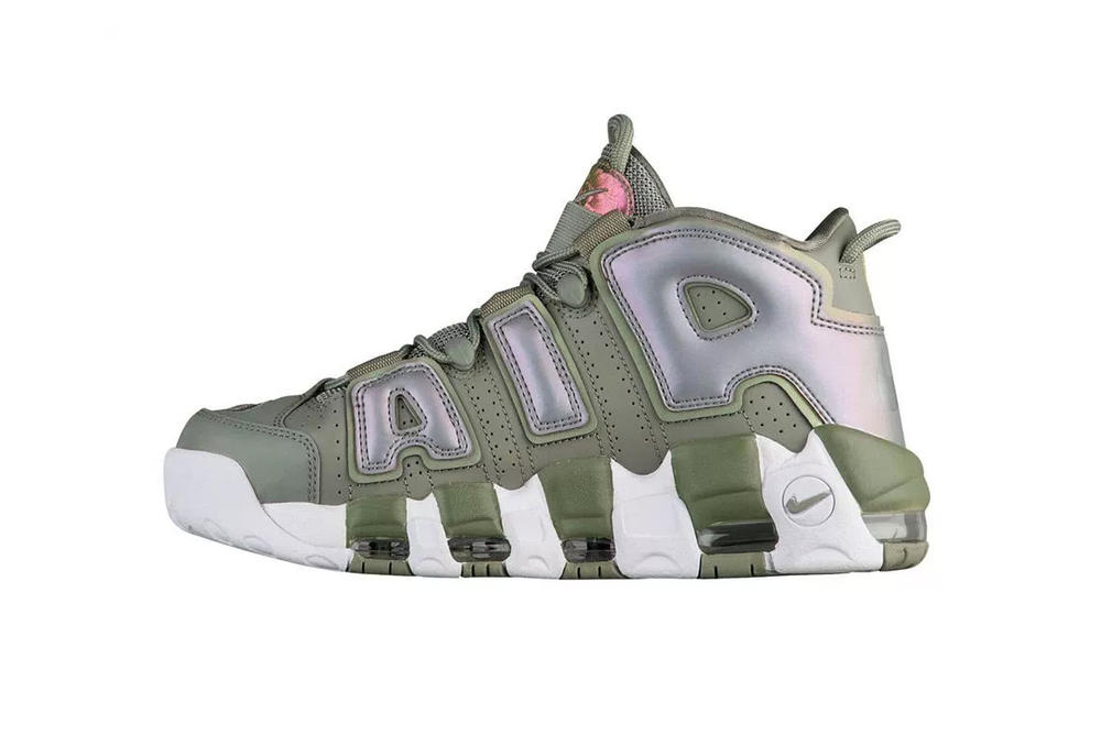 0777831d193281 nike air more uptempo shine olympic scottie pippen basketball womens  exclusive pearl olive