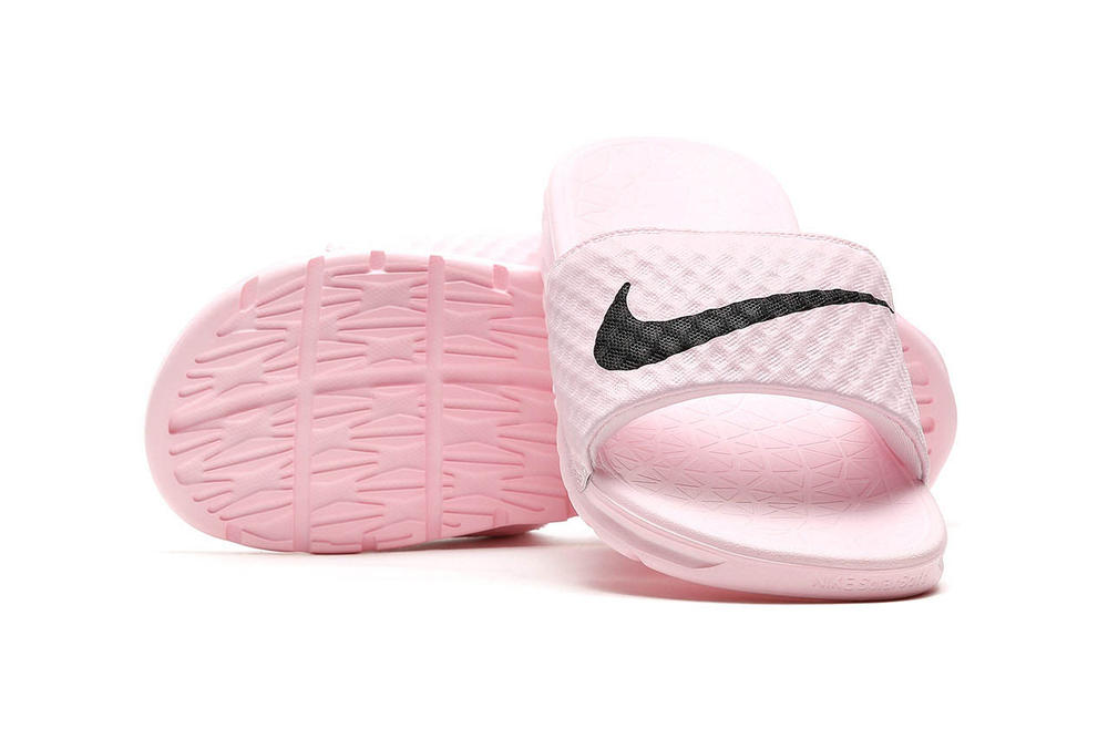 a7a88928fe08 This Dreamy Pink Nike Slide Is Exactly What You Need This Summer. Benassi  Solarsoft 2 is pastel must-cop.