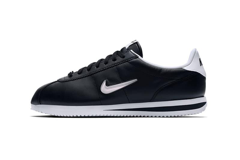 Nike Cortez Jewel Black White Silver Metallic Mini Swoosh