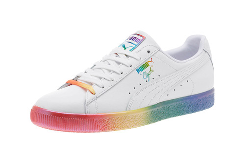 Show Your Pride This Month with PUMA s Rainbow Clyde 56e7f3c38