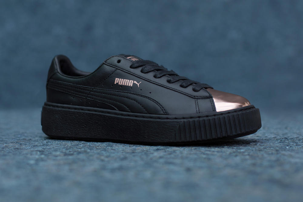 The PUMA Suede Platform Is Rose Gold-Capped  e1484d336