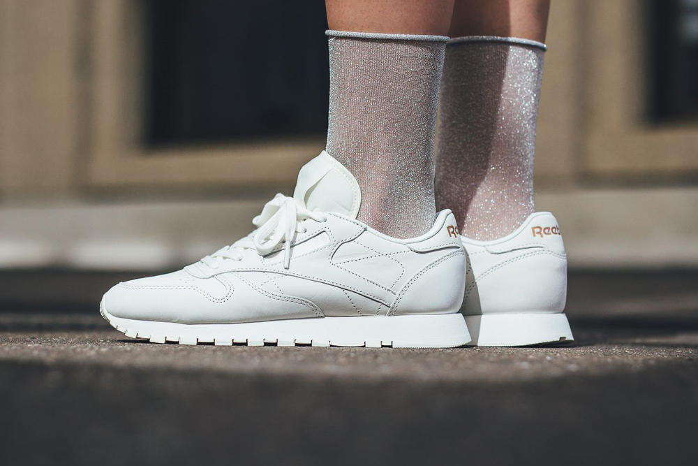 11252e690c2 Reebok Classic leather fbt suede white rose gold womens sneaker
