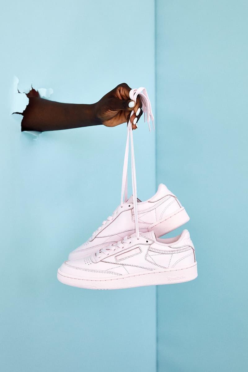 Naked CPH copenhagen sneaker store editorial reebok club c 85 elm pastel milkshake