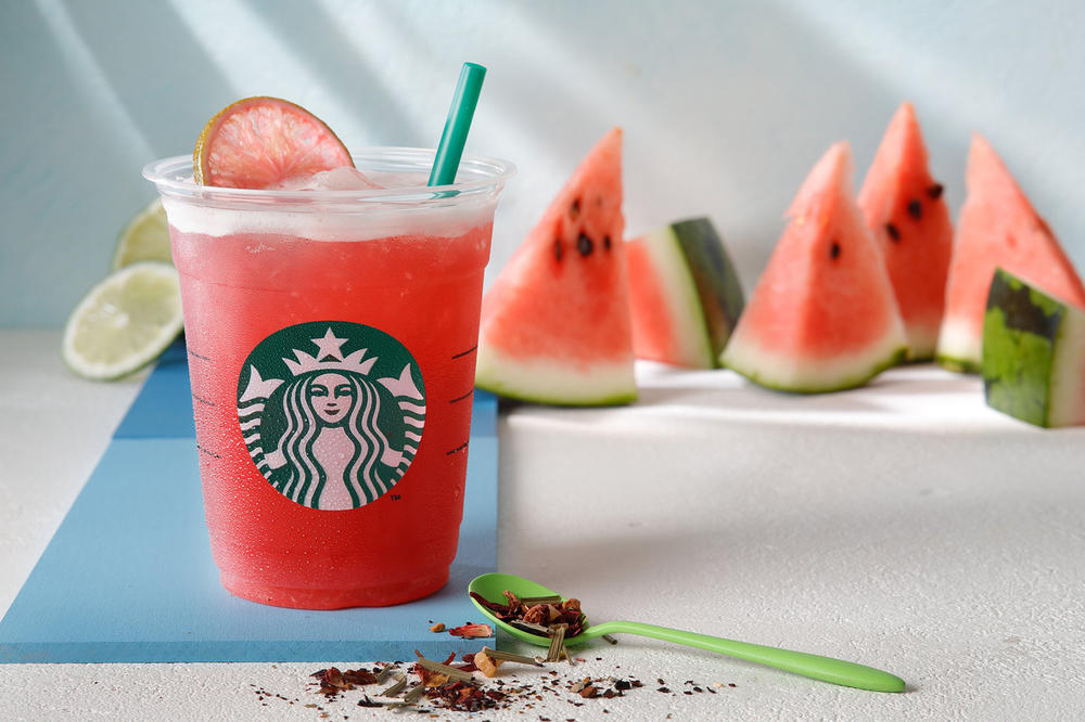Starbucks Shaken Watermelon and Passion Tea