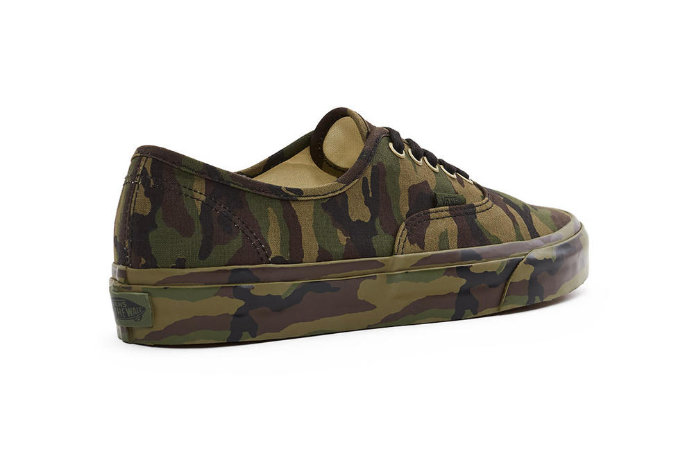 Vans Authentic Green Camo