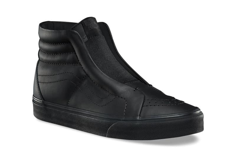 Vans Leather Old Skool Sk8-Hi Laceless