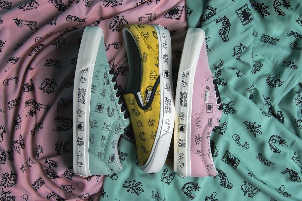 Vault by Vans collaboration Brain Dead Kyle NG sneakers old skool era slip on