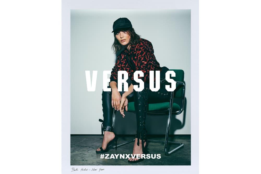 Zayn Malik Versus Versace Campaign Bella Hadid 2017 June