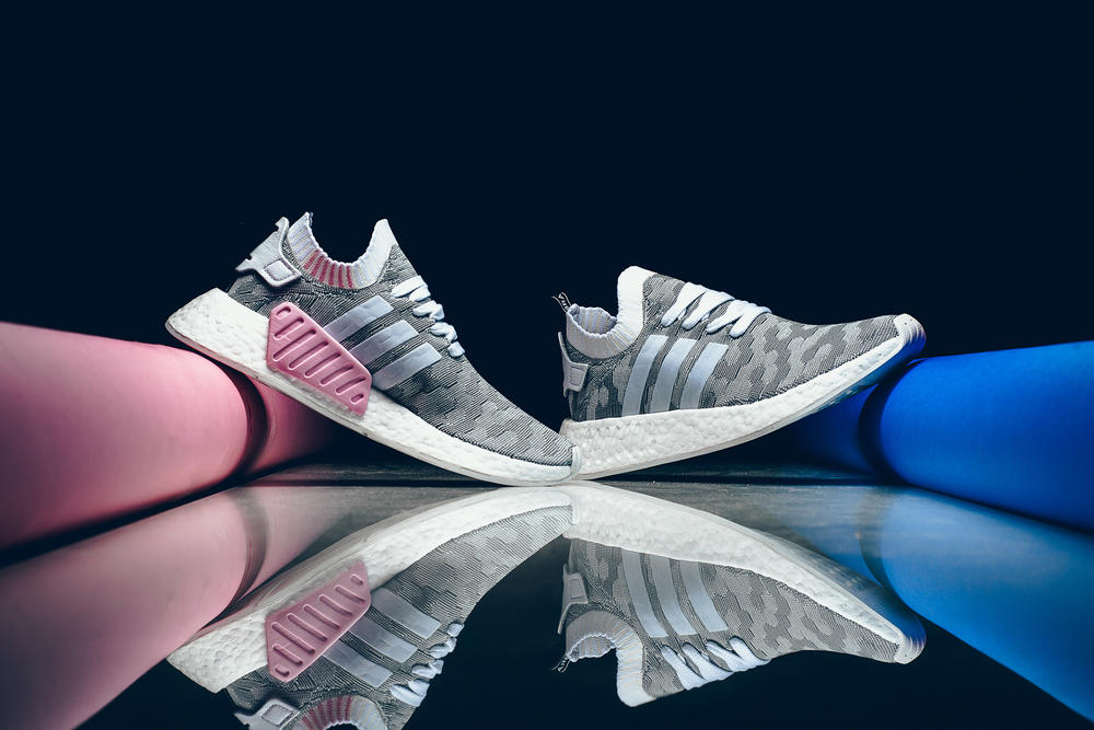 adidas Originals NMD R2 Grey Wonder Pink White