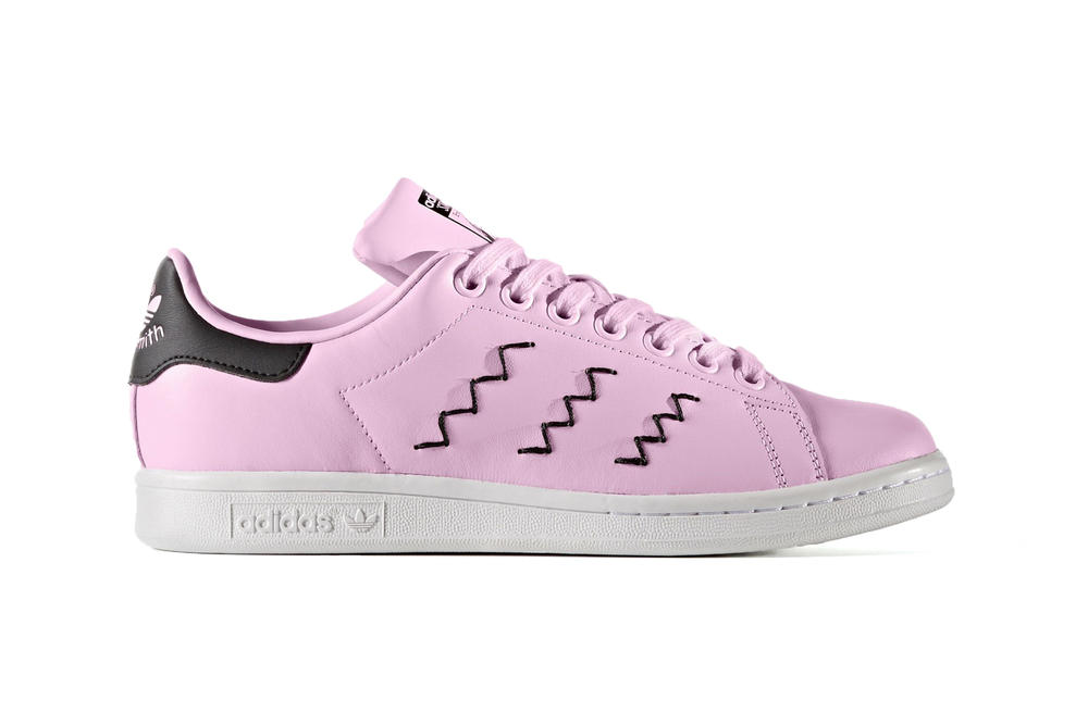 adidas stan smith womens sneakers wonder pink zigzag three stripe