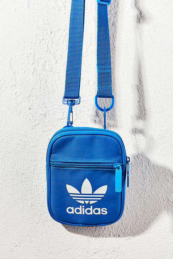 adidas Originals Trefoil Festival Crossbody Bag Urban Outfitters Blue