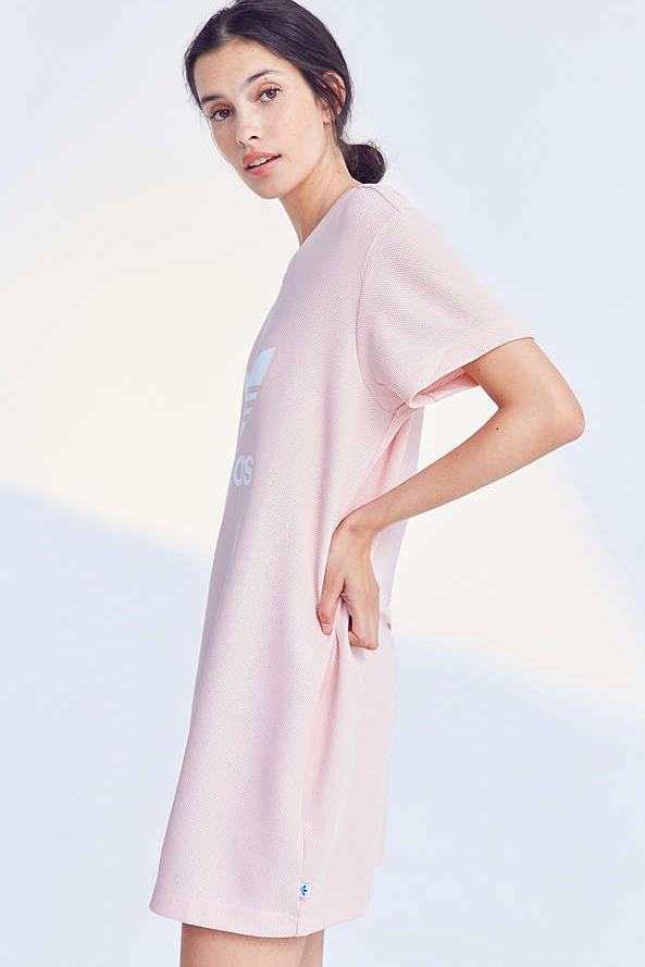 adidas Originals Millennial Pink Pastel TShirt Dress Trefoil Logo