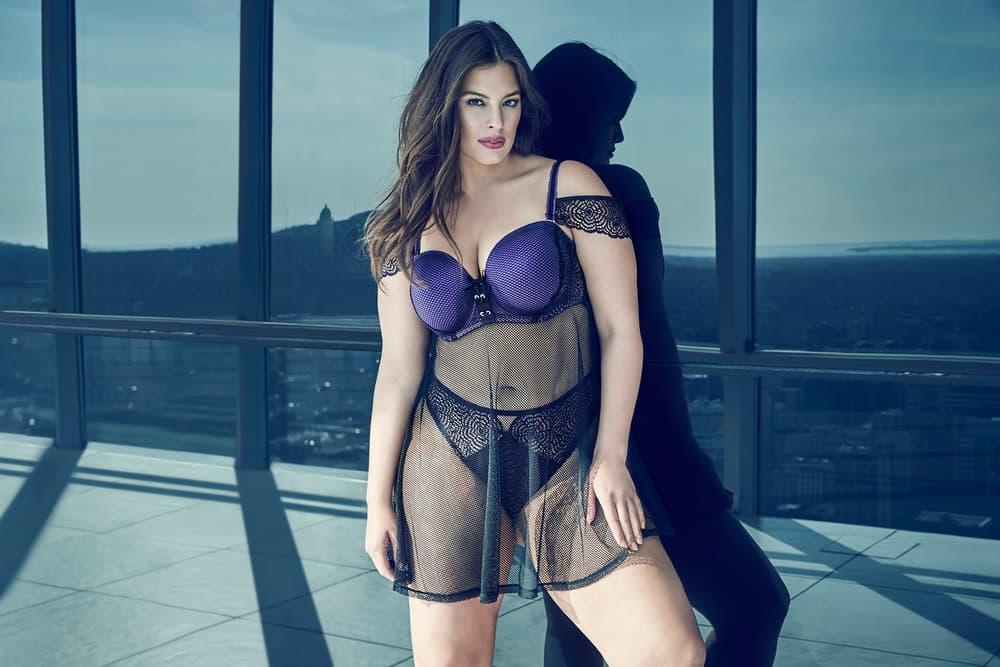 Ashley Graham Lingerie Collection Design Addition Elle Purple Rain Underwear Plus Size