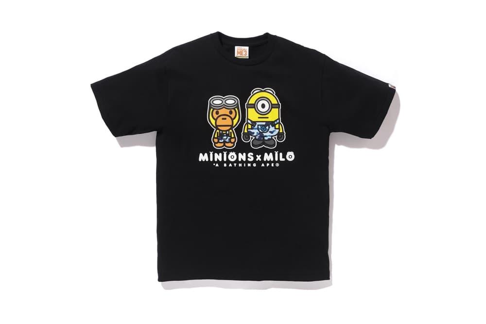 Minions BAPE Baby Milo 2017 Collaboration Despicable Me 3 Bathing Ape Apparel Accessories