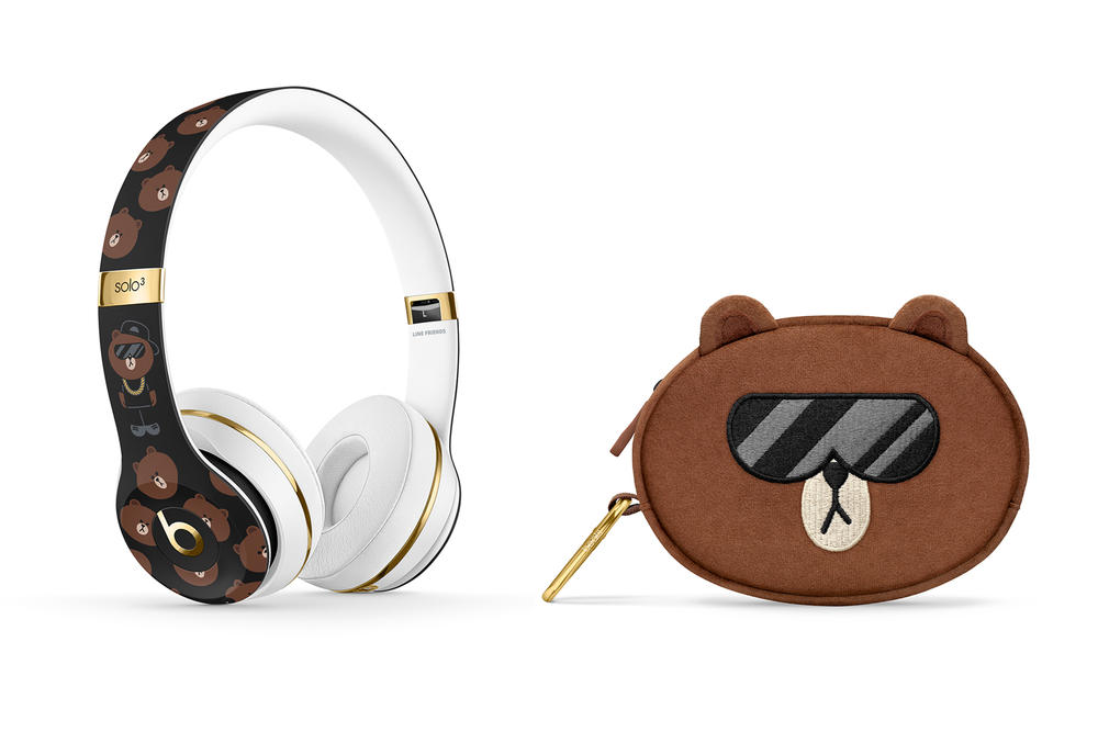 LINE FRIENDS Beats by Dre Brown Bear Headphone Korea