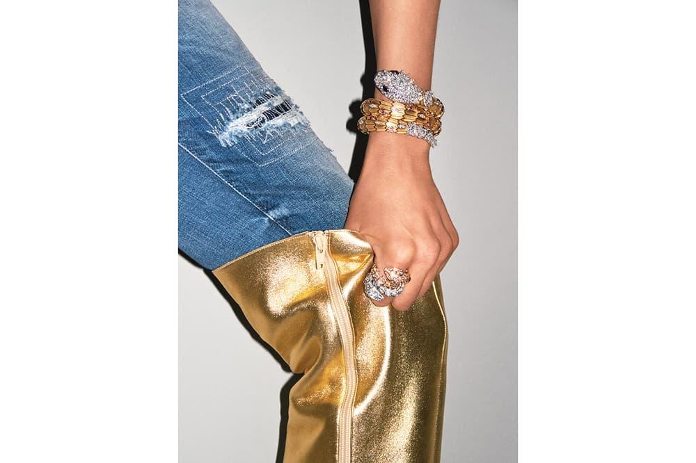 Bella Hadid Terry Richardson Denim Diamonds V Magazine 2017 Fall Issue