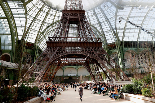 493b850f8a3 Karl Lagerfeld Recreates the Eiffel Tower for Chanel s 2017 Fall Couture  Show
