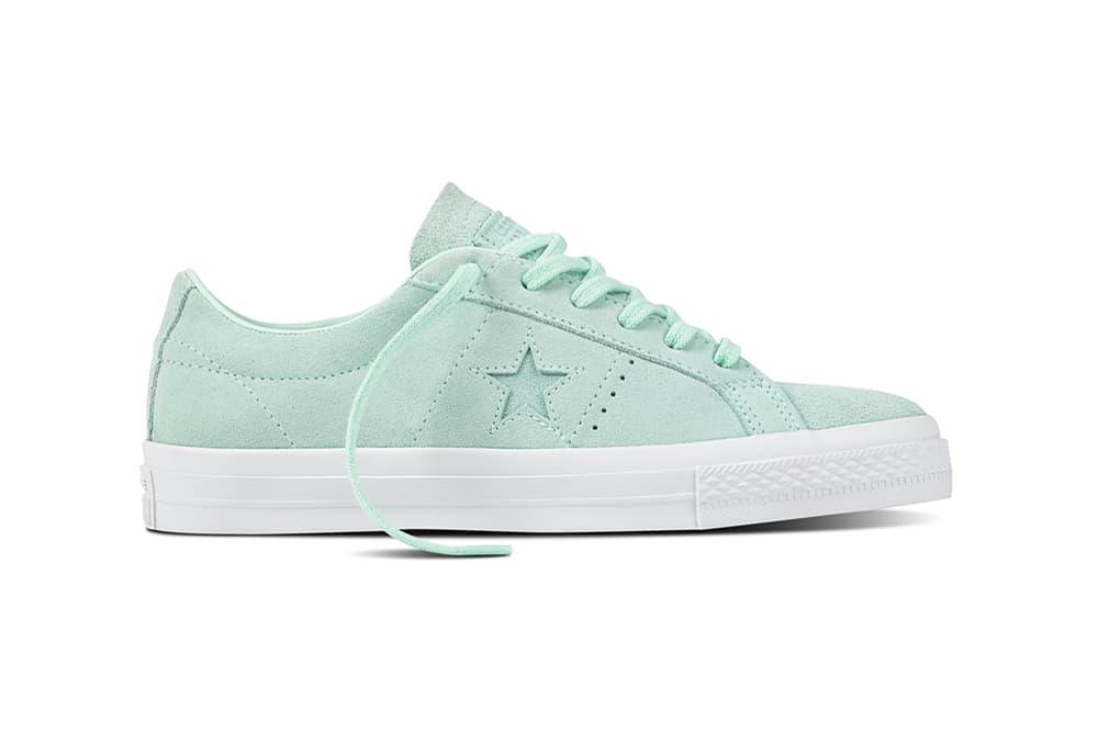 84439686c83a Converse One Star Suede Mint Foam Dusk Pink Egret