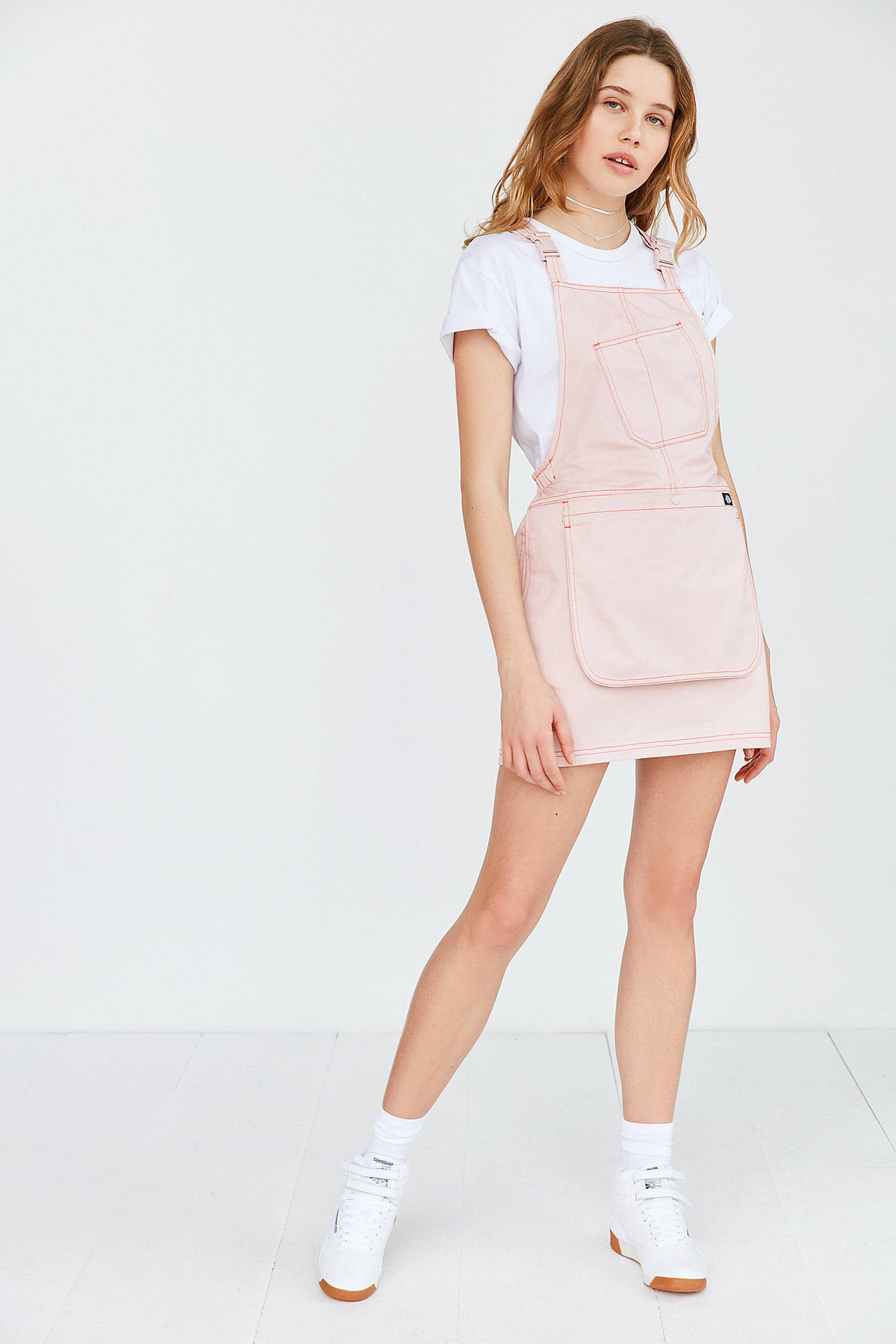 Dickies X Urban Outfitters Pink Bib Dress On Sale Hypebae