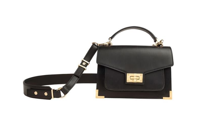 Emily Ratajkowski The Kooples Handbag exclusive leather gold