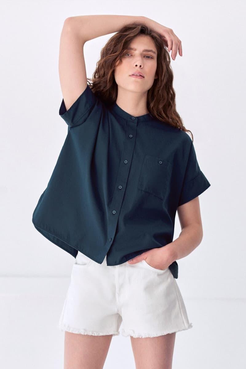 everlane summer shirts collarless oxford boxy shirt