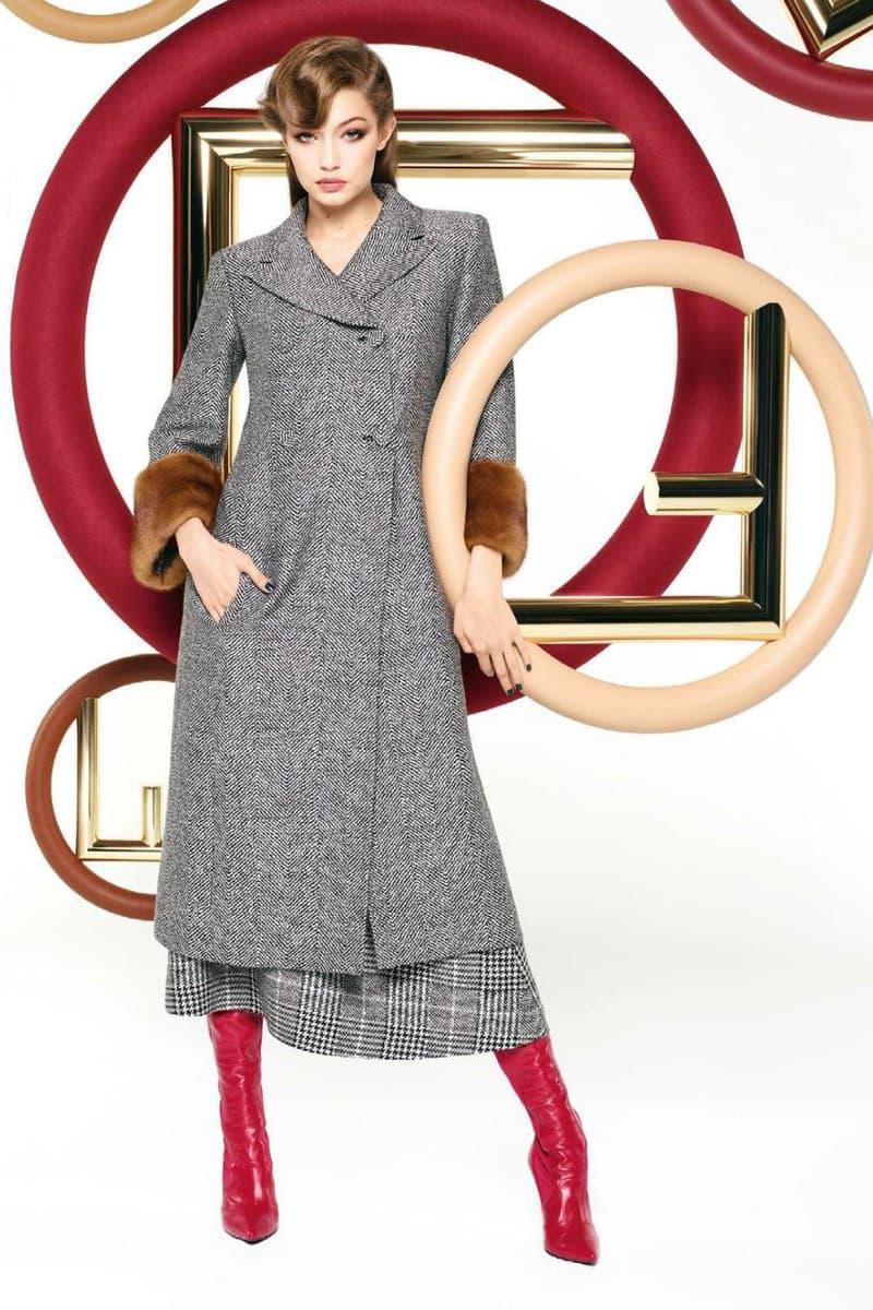 Gigi Hadid Fendi Karl Lagerfeld campaign 2017 fall winter