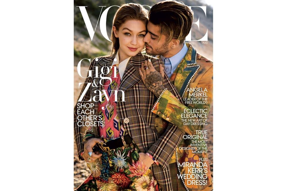 Gigi Hadid Zayn Malik Vogue 2017 August Cover