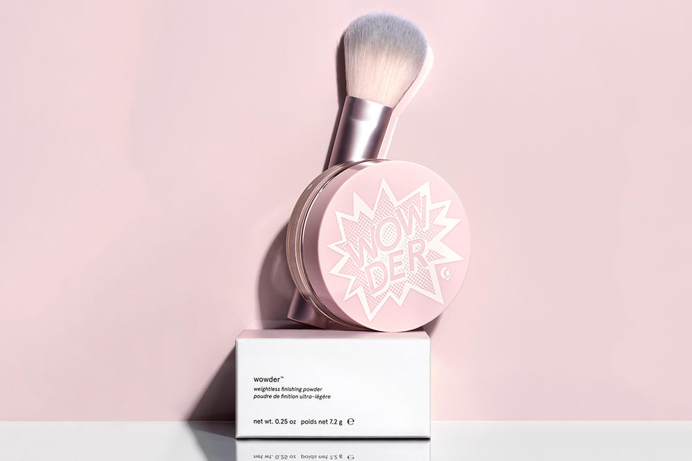 glossier powder wowder finishing makeup cosmetics teaser