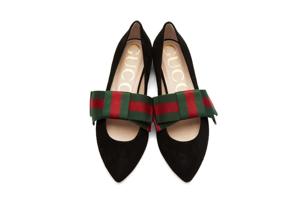 Gucci Bow Ballerina Flats