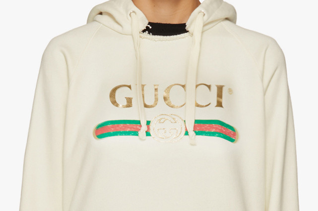 90fc0fd426b Gucci Oversized Vintage Blind For Love Hoodie
