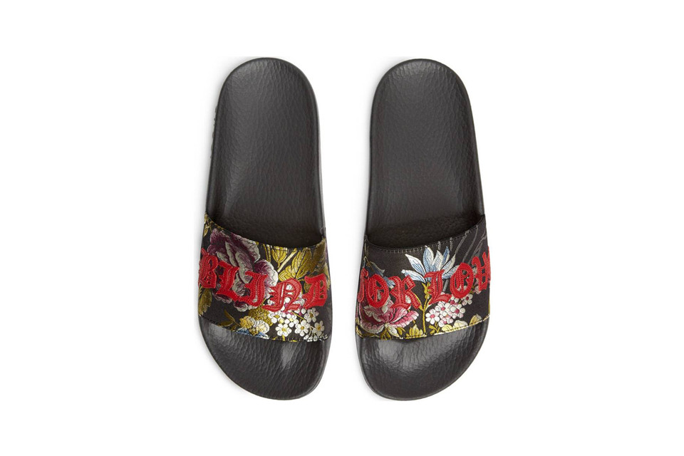 ef57716801fe Gucci s Floral Slides Are for the Love Sick