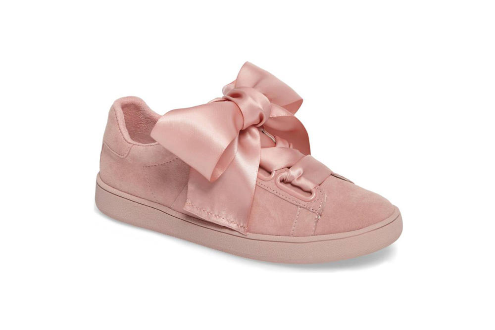 Jeffrey Campbell Pabst Low Top Sneaker Pink Suede