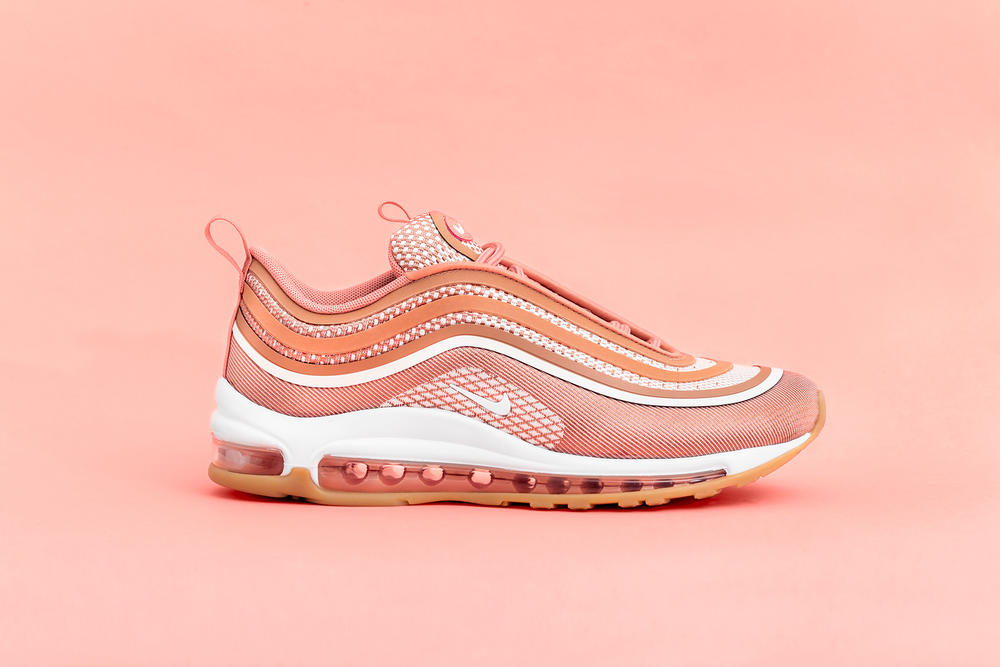 timeless design fb9ce e2093 nike air max 97 ultra metallic rose gold closer look