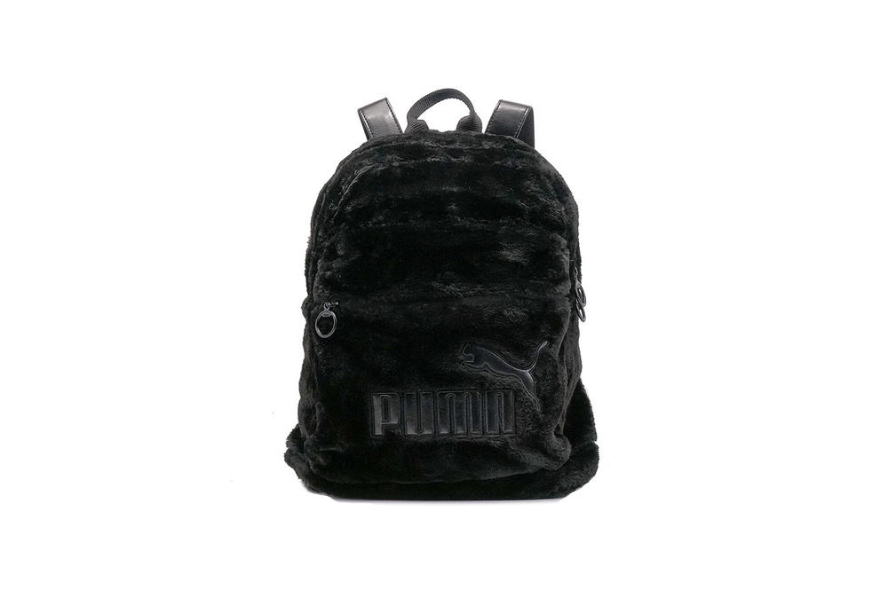 PUMA Fur Pouch Backpack Scallop Shell Black