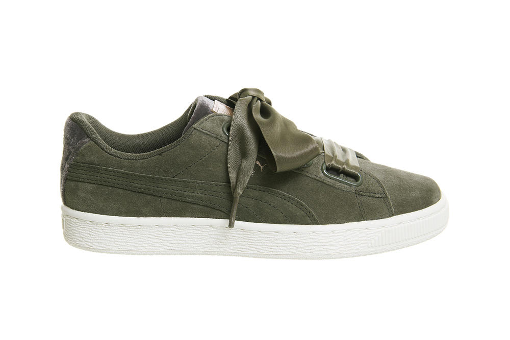 PUMA Suede Heart Olive Night Green Gold
