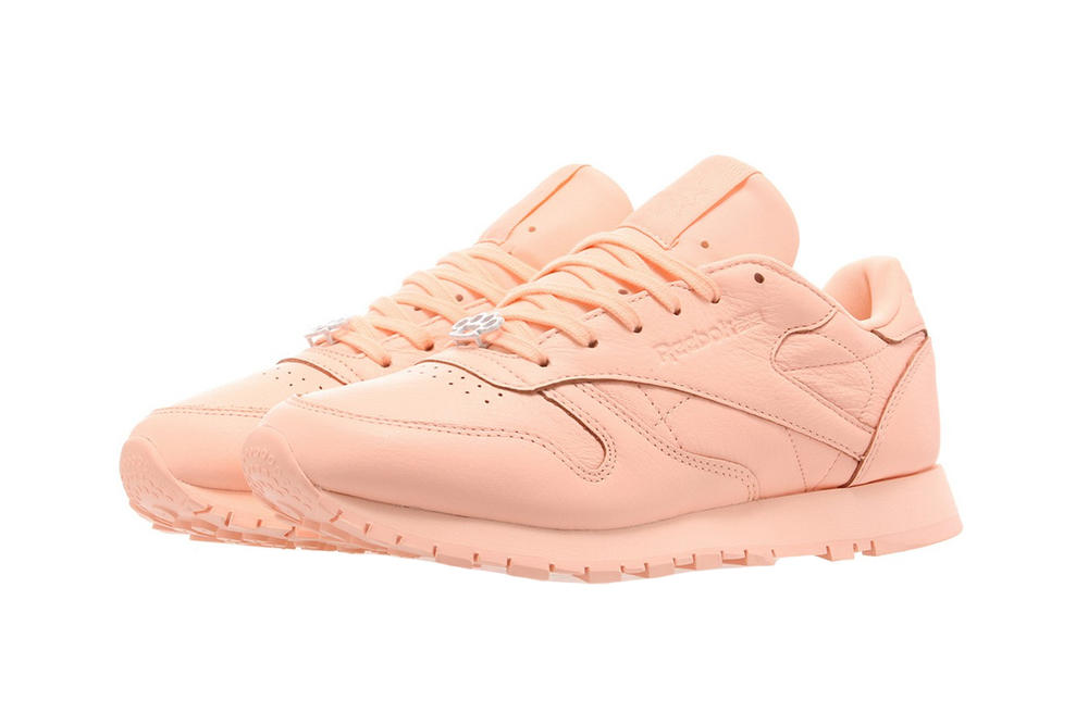 Reebok Classic Leather Grit Peach Twist Pastel Coral