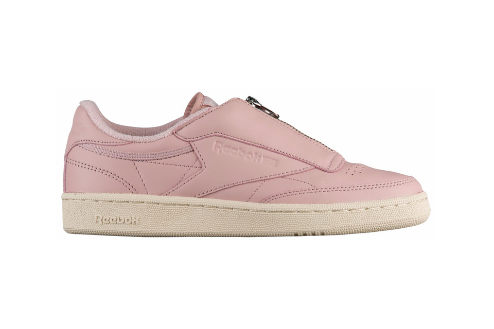 fa77f93f82a Reebok Debuts Club C 85 Zip in Pink and White