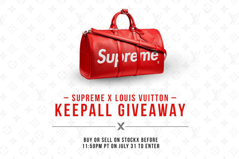 Supreme x Louis Vuitton Keepall Bag Red