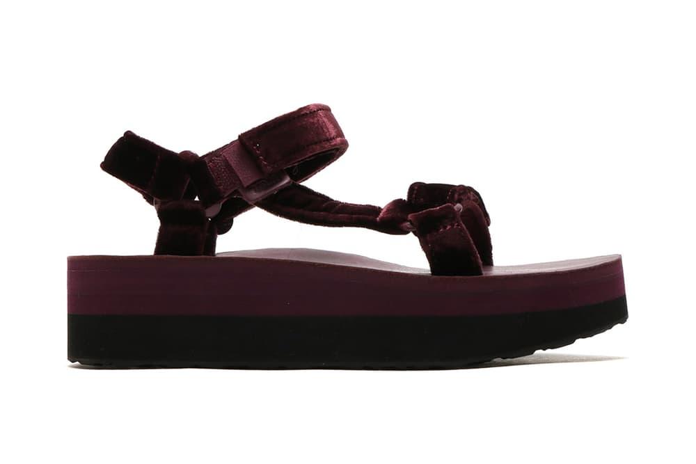 1f6a7365384 Teva Flatform Universal Velvet Sandals atmos Deep Purple Blue Amber Yellow  Burgundy Summer