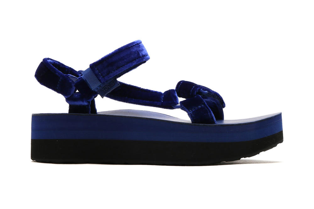 54c0223554 Teva Flatform Universal Velvet Sandals atmos Deep Purple Blue Amber Yellow  Burgundy Summer