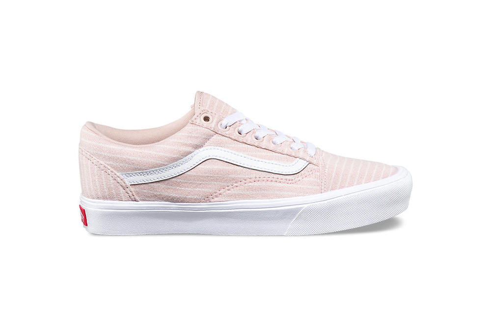 7d6d67e4ff5005 Vans Old Skool Authentic Lite Sepia Rose Pastel Pink White Stripes  Millennial