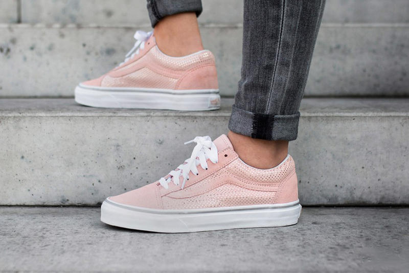 ac2af0d3be Vans Old Skool Metallic Dots Rose Span Pink Pastel