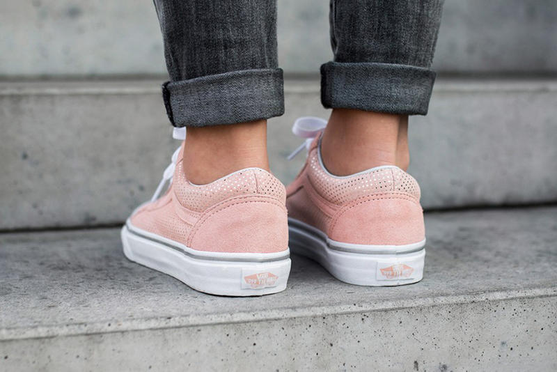 Vans Old Skool Metallic Dots Rose Span Pink Pastel