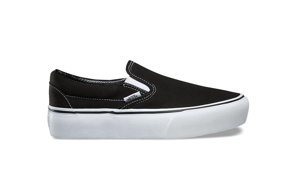 The Vans Slip-On Platform Checker Black White Creeper