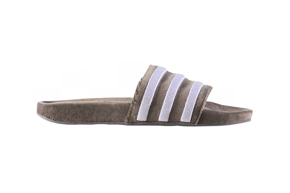 adidas Adilette Suede Slide Grey