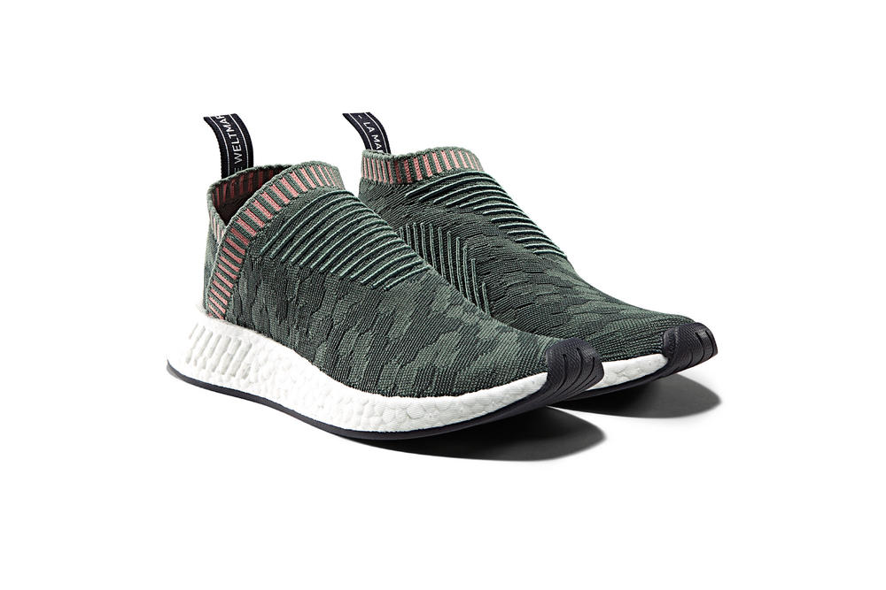 adidas NMD R2 CS2 Raw Pink Trace Green