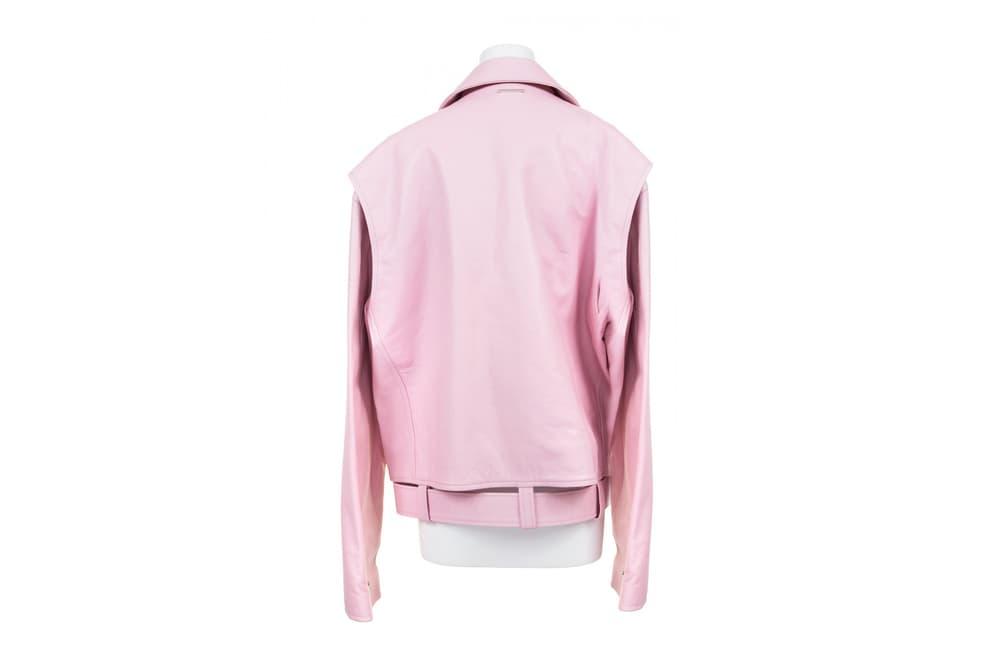 AMBUSH Pink Leather Jacket 2017 Spring Summer