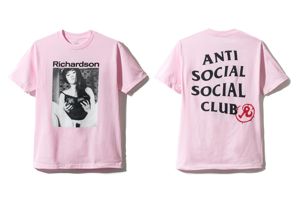 Anti Social Social Club Richardson Collaboration 2017 Summer Pink T-shirt Hoodie Los Angeles Pop Up August Neek Lurk